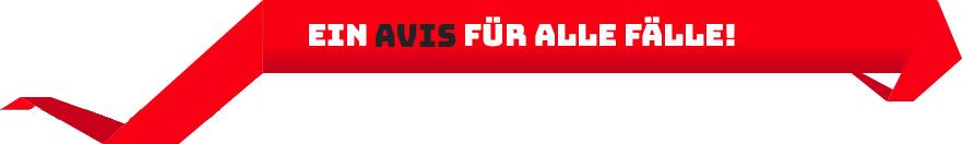 Banner: Ein AVIS für alle Fälle