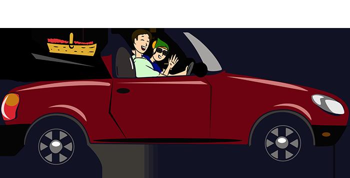 Wochenende: Cabrio fahren