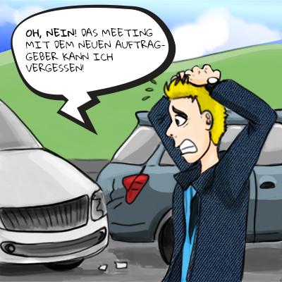 Autounfall: Schreck in der Morgenstunde!